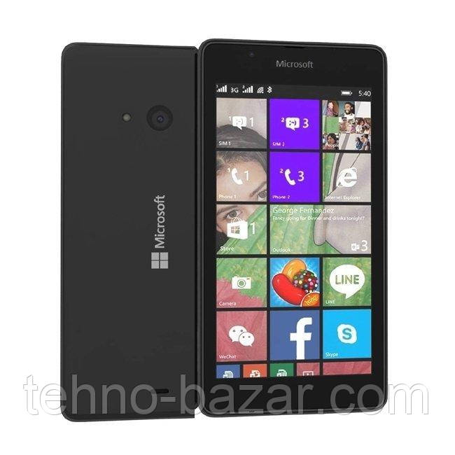 Смартфон Microsoft Lumia 540 Dual SIM Black 1/8gb 2200 мАч Qualcomm Snapdragon 200 MSM8210 + Подарки