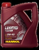 Моторное масло MANNOL LEGEND+Ester SAE 0W-40; API SM/CF (4л)