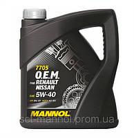Оригинальное моторное масло MANNOL O.E.M. 5W40 for Renault Nissan API SN/CF (4л.)