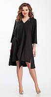 Платье TEZA-102 белорусский трикотаж, черный, 50
