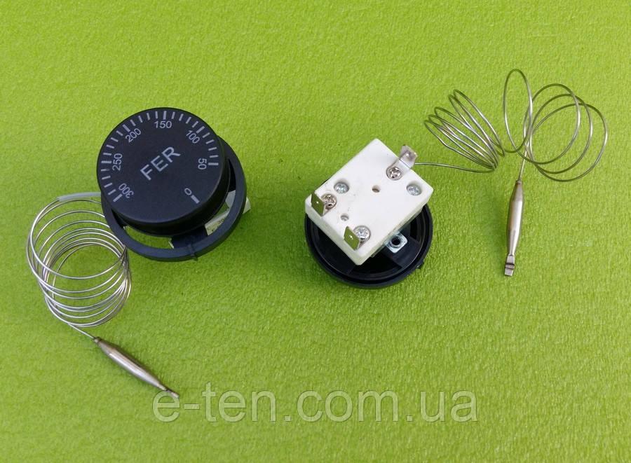 Терморегулятор капиллярный механический FER / T = 50 - 300°C / 16А / 250V / L=100см (на 3 контакта)   Турция