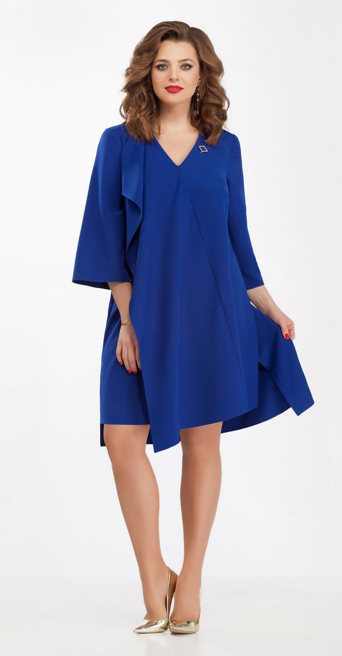 Платье TEZA-102/1 белорусский трикотаж, василек, 50