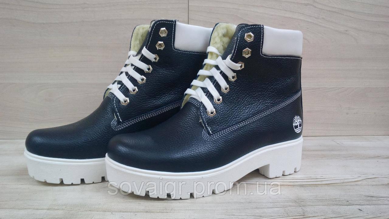 Ботинки кожаные зимние Sonia Lin