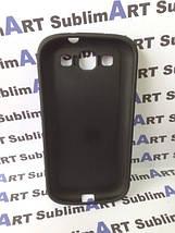 Чехол для 2D сублимации резиновый (TPU) на Samsung Galaxy S3 черный, фото 3