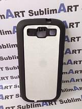 Чехол для 2D сублимации резиновый (TPU) на Samsung Galaxy S3 черный, фото 2