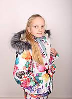 Комбинезон детский зимний Детский зимний костюм Костюм для девочки Комбинезон зимний на девочку Новинка 2019