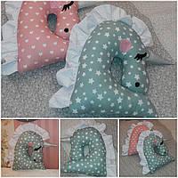 Сказочная подушка-игрушка единорожка, авторская ручная работа, выс.43х43 см., 380/330 (цена за 1 шт. + 50 гр.)