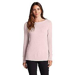Пуловер Eddie Bauer Womens Lux Thermal Crewneck Sweater HTR XS Розовый 0303PIH-XS, КОД: 268963
