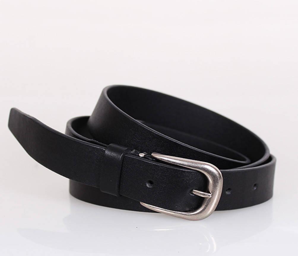 Женский кожаный ремень Dovhani MW682499-10 115-125 см Черный