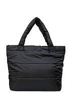 Дутая черная сумка POOLPARTY