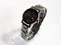 Часы наручные  мужские черные кварцевые JWH с браслетом