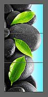 Модульная картина на стекле Камни 120*50 см