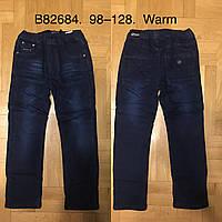 Джинсы утепленные для мальчиков оптом, Grace, 98-128 см,  № B82684, фото 1