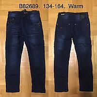 Джинсы утепленные для мальчиков оптом, Grace, 134-164 см,  № B82689, фото 1