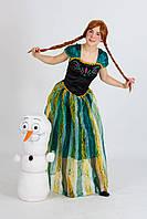Карнавальный костюм с париком  Анны  Холодное сердце Фрозен Размер L