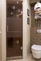 Стеклянная душевая дверь, фото 1