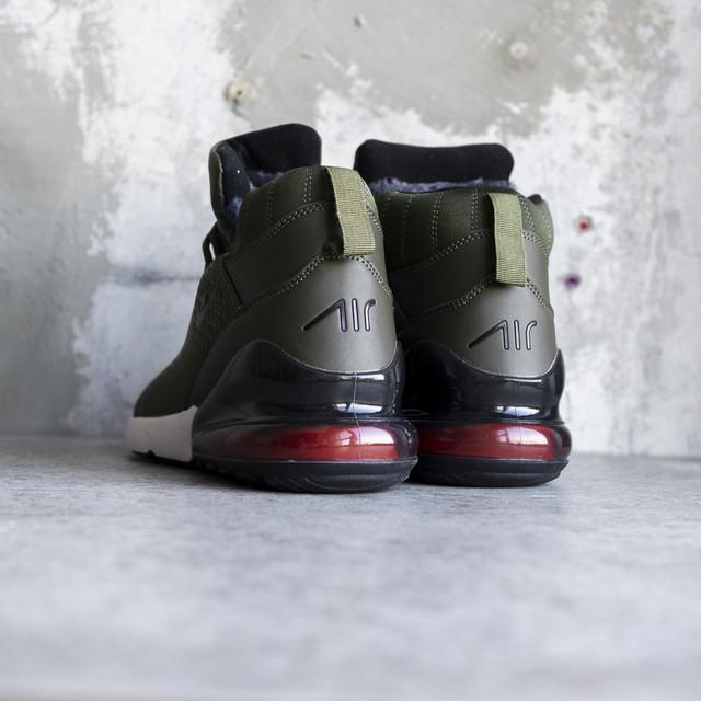 bdc94bb8 Мужские зимние кроссовки Nike Air Max 270 Off-White Haki (в стиле ...