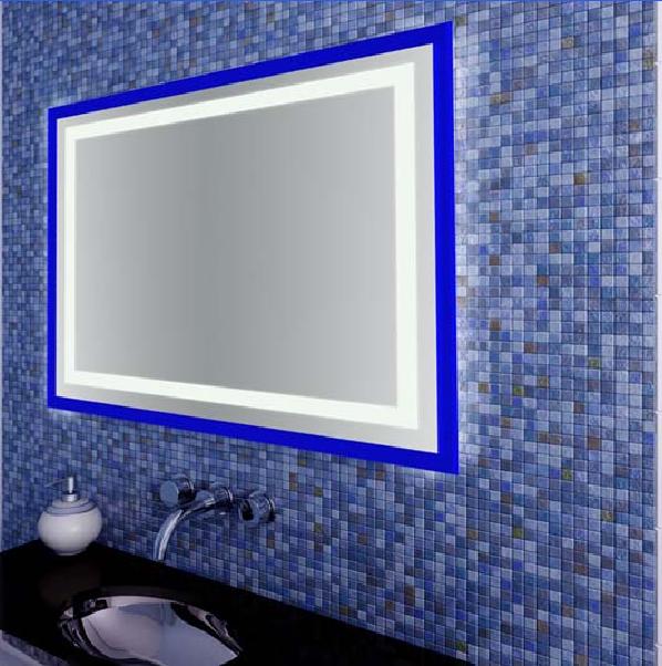 Зеркала влагостойкие с LED подсветкой. 10ВТ. влагостойкий трансформатор. Каркас- пластик.