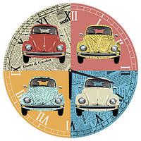 Настенные часы круглые Автомобили 36 см (CHR_O_15M044)