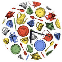 "Часы настенные круглые ""Посуда"" 36 см"