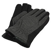 Шерстяные мужские перчатки в сером цвете Зима М:2018