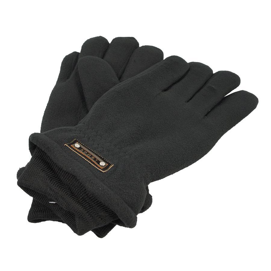 Зимние мужские перчатки Зима фліс Sport black