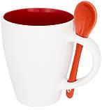 Керамічна чашка з ложкою з модним дизайном, фото 5