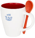 Керамічна чашка з ложкою з модним дизайном, фото 7