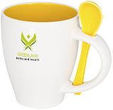 Керамічна чашка з ложкою з модним дизайном, фото 10