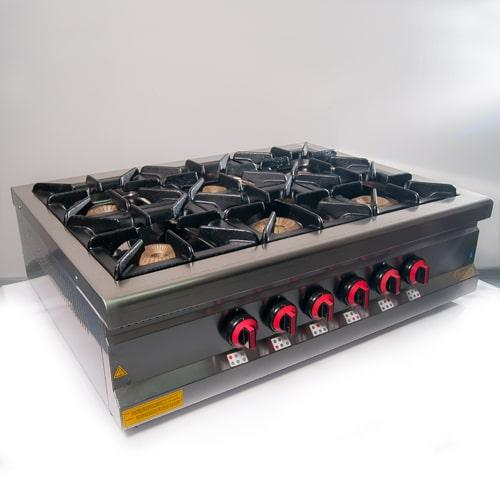 Плита газовая 6-ти конфорочная настольная Pimak M015-6N