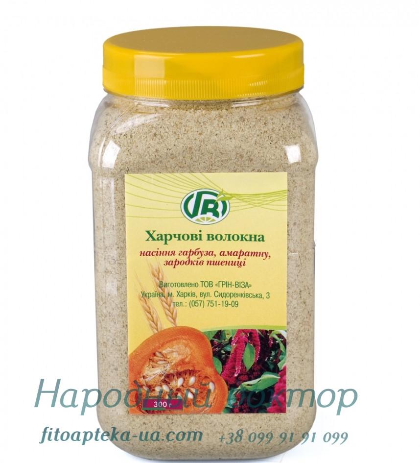 Харчові волокна гарбуза, льону і зародків пшениці, 300 г