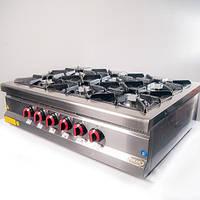 Плита газовая 6-ти конфорочная настольная Pimak M015-6N с газовы контроллером