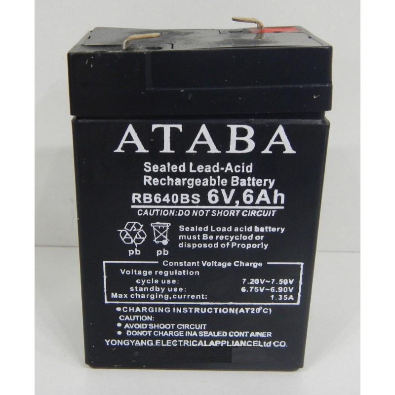 Аккумуляторная батарея ATABA 6V 6Ah RB640BS