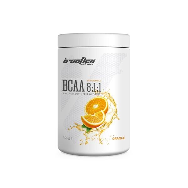 Аминокислоты IronFlex - BCAA 8:1:1 (400 грамм) orange/апельсин