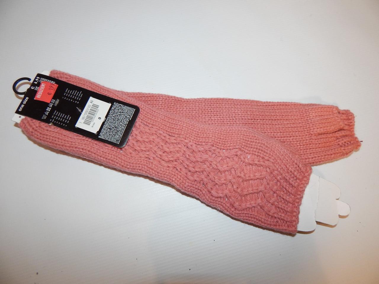 Перчатки женские (митенки) длинные вязка р.М (7) 005PGZ