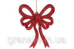 Елочное украшение Бант 13*11 см, цвет - красный (45 шт)