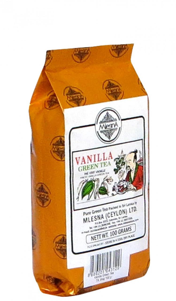 Зелёный чай Ваниль, VANILLA GREEN TEA, Млесна (Mlesna) 100г.