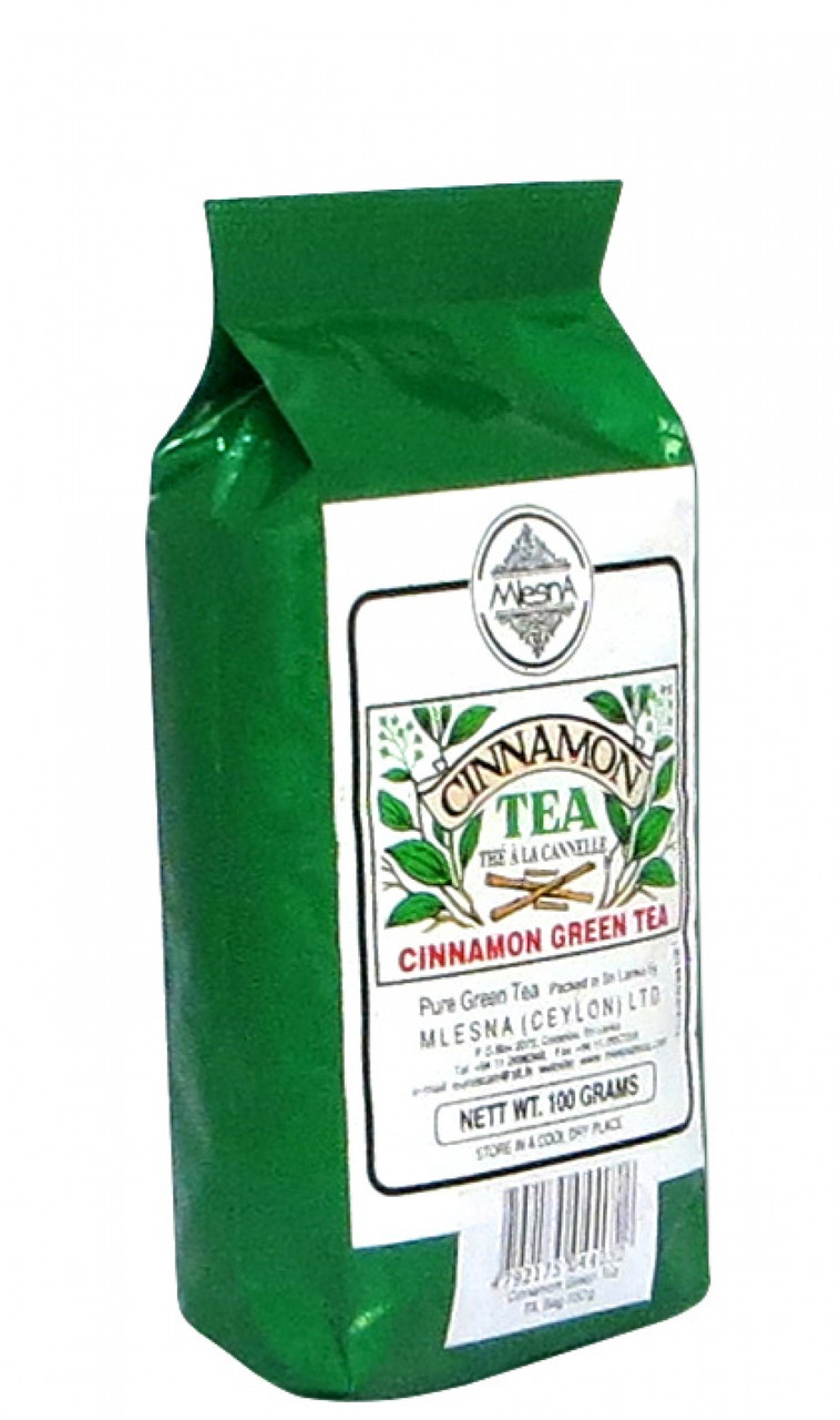 Зеленый чай Корица, CINNAMON GREEN TEA, Млесна (Mlesna) 100г.