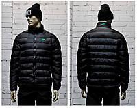 Стильная мужская куртка NIKE зимняя черная. Курточка теплая