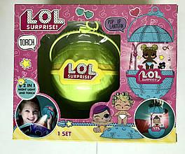 LOL Surprise  ночник-фонарик с куклой Декодер 4 Серия  (Зеленый шар)