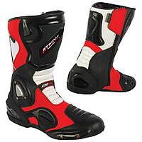 ATROX AРT. NF-4401 Взуття шкіряне чорно-біло-червоного кольору