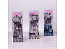 """Столові прибори в наборі 24 предмета пластикові ручки асорті 5243 """"KAMILLE"""""""