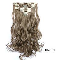 Накладные волосы локоны 7 прядей на клипсах,шиньон,трессы длина 50 см, фото 1