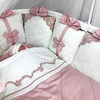 """Роскошный набор постельного белья для девочки """"Классика с кружевом"""", фото 1"""