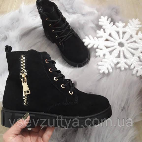6a8cf9e80b3ec2 Черевики замшеві жіночі чорні зимові. Тільки 38 розміри!: продажа ...