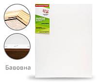 Холст на подрамнике Rosa мелкое зерно хлопок акриловый грунт с боковой натяжкой 40 x 80 см  (4820149890845)