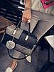 Женская сумка через плечо черный с серым, фото 3