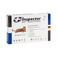 Инспектор Тотал К (Inspector) капли для кошек,1 пипетка 1-4 кг