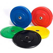 Диски (блины) бамперные для кроссфита и тяжелой атлетики