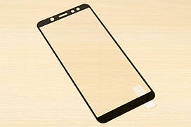 Защитное стекло Silk Screen для Samsung Galaxy A6 2018 тех.пакет (Black)